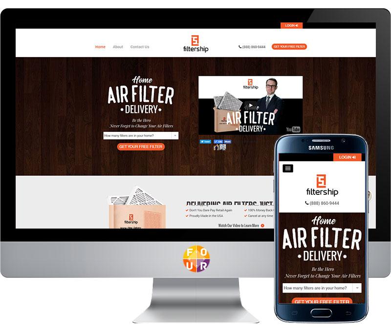 Filtership Website Design