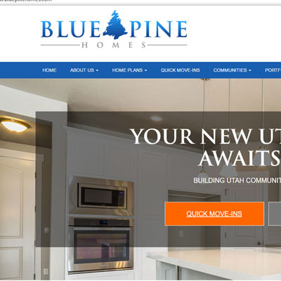 Website Development Sample Bluepine Homes