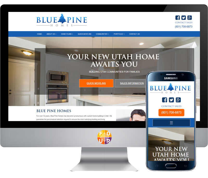 Blue Pine Homes Website