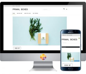 Primal Boxes Website View