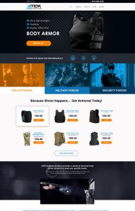 Atek Home Page Design Preview
