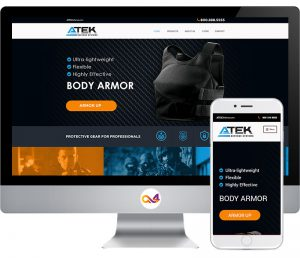 Atek Website Design Home Page