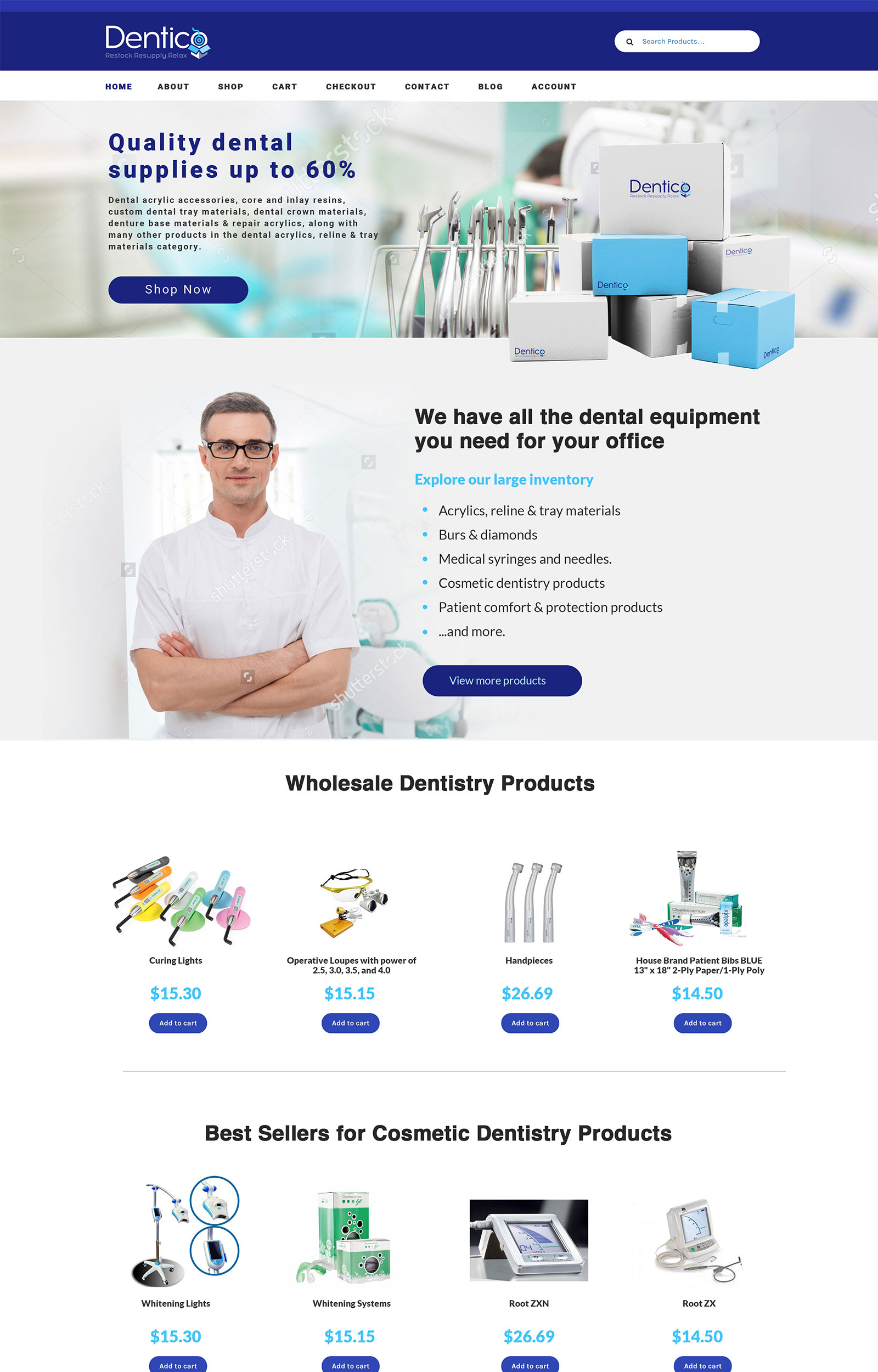Dentico Home Page Preview