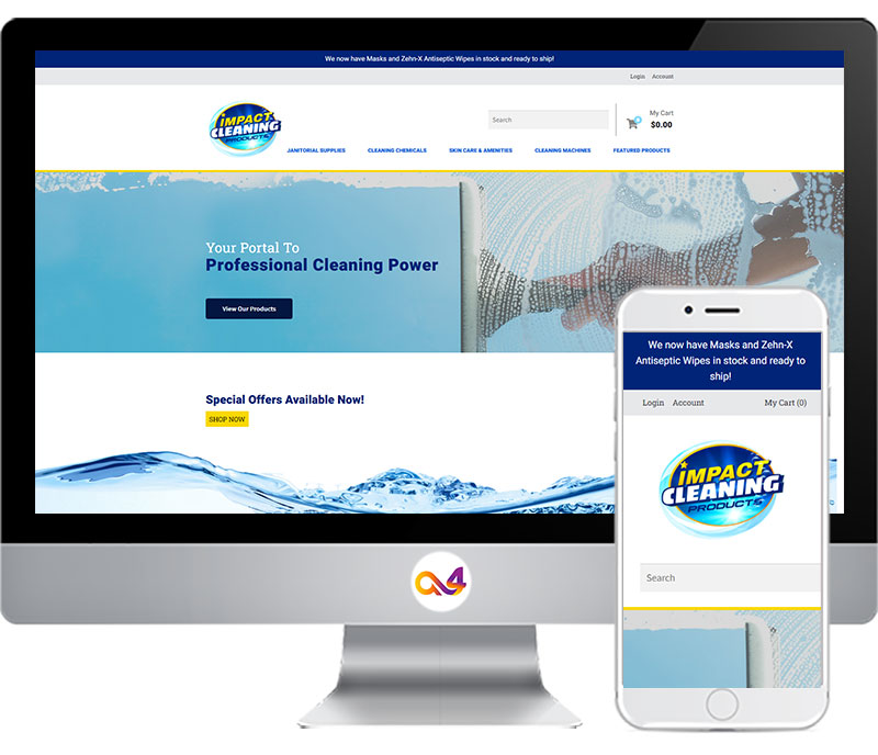 Impact cleaning website view